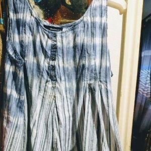 Roaman's Gauzy Tunic in Denim Blue 26W